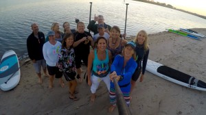 Full moon paddle crew, led by Maggie